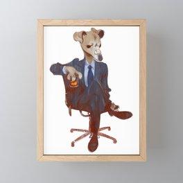 Greyhound Noir Framed Mini Art Print