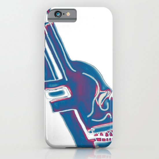 Neon Pipe Wrench Skull iPhone & iPod Case