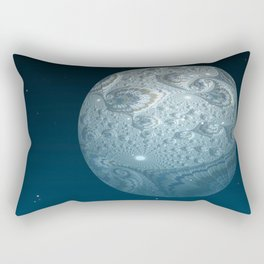 Fractal Moon Rectangular Pillow