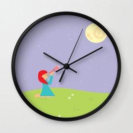 she gazes  Wall Clock