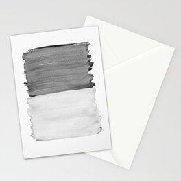 Gray Black White Abstract Minimalism #1 #minimal #ink #decor #art #society6 Stationery Cards