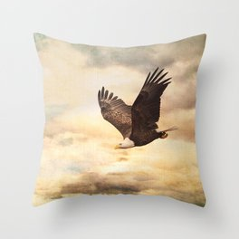 Early Evening Flight Throw Pillow