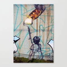 Rolling On Fire Canvas Print