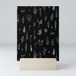Black wildflowers Mini Art Print