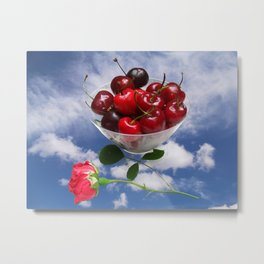Cherries from heaven Metal Print