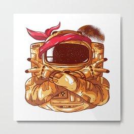 Gangsta Astronaut Metal Print