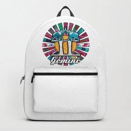 Pink Sunrays Gemini Elephant Twins Backpack