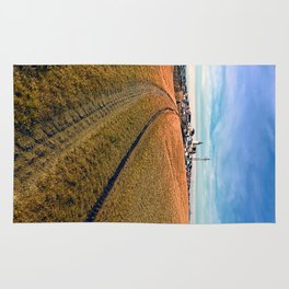 On the way to the village center | landscape photography Rug