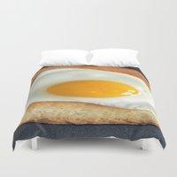 breakfast club Duvet Covers featuring Breakfast by Asano Kitamura