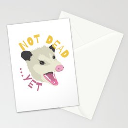 Possum Not Dead Yet Live Ugly Face Your Death Opossum Stationery Cards