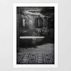 The floating woman Art Print
