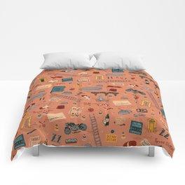Budapest Hotel Plot Pattern Comforters