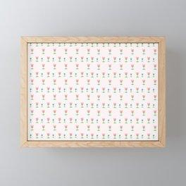 Cute Tulip Pattern Framed Mini Art Print