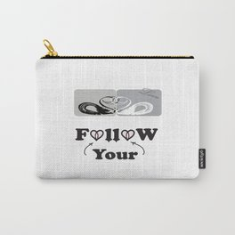 Follow-your-heart , love ducks, duck, quotes ,  Society6. Carry-All Pouch