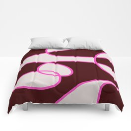 Asbtract Graphic Design Scarlet Comforters