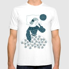 Little Briar Rose SMALL Mens Fitted Tee White