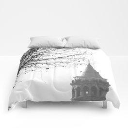 Galata Tower in Istanbul Comforters