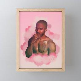 Pink + White | Digital Painting Framed Mini Art Print