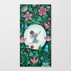 Mouse Amongst The Flowers Canvas Print