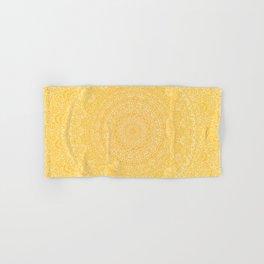 The Most Detailed Intricate Mandala (Mustard Yellow) Maze Zentangle Hand Drawn Popular Trending Hand & Bath Towel