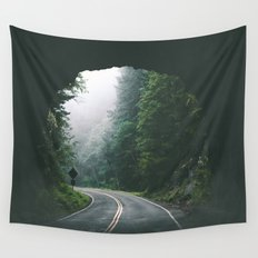 Through The Tunnel Wall Tapestry