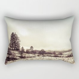 Scottish Highlands Snow Rectangular Pillow