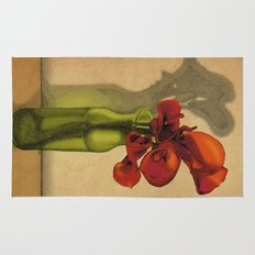 Calla lilies in bloom Rug