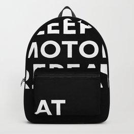 Eat Sleep Motorhome Repeat - Camper Gift Backpack