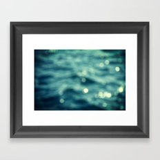 Bokeh Water Framed Art Print