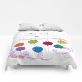 Mother Owl Colored Pencils Comforters
