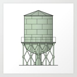 Watertower Art Print