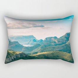 Scenic Mountain Landscape Photo Rectangular Pillow