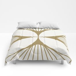 Diamond Series Floral Cross Gold on White Comforters