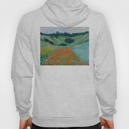 Claude Monet Impressionist Landscape Oil Painting Poppy Field in a Hollow near Giverny Hoody