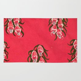Foxgloves in Red Rug