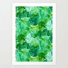 Welcome to the Jungle Palm Art Print