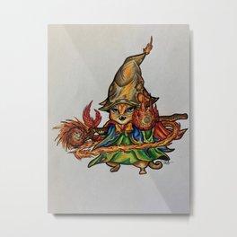 Fireball Kitty Metal Print