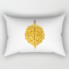 Pencil Brain Rectangular Pillow