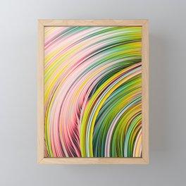 Colorful Strands. Abstract Art Framed Mini Art Print