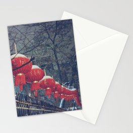 Red Lanterns in Chinatown, NYC Stationery Cards