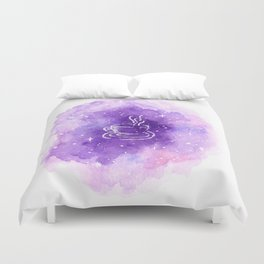 THERE'S COFFEE IN THAT NEBULA Duvet Cover