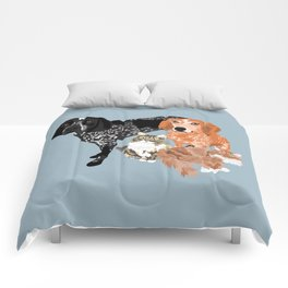 Lady, Blue, Leo and Butch Comforters