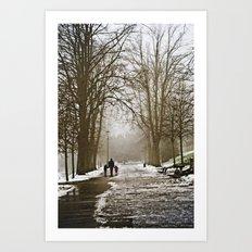 A walk through the park II Art Print