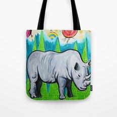 Rhino of the Land Tote Bag