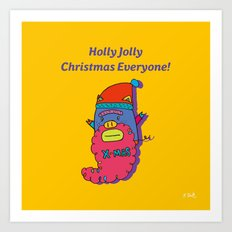 piggy santa Art Print