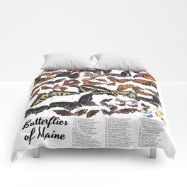 Butterflies of Maine Chart Comforters