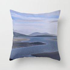 Seaside Blues Throw Pillow