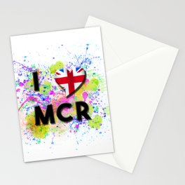 I love Mcr - I love Manchester Stationery Cards