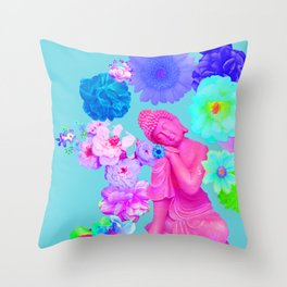Pink Buddha Throw Pillow