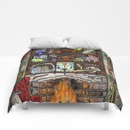 Creepy Cabinet of Curiosities Comforters